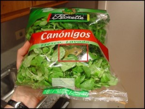 rana nell' insalata
